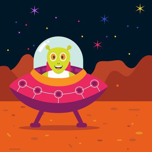 Mars UFO op Mars vector