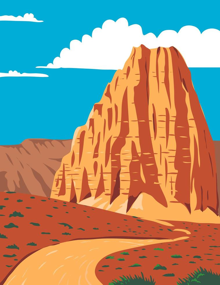 Cathedral Valley Loop in Capitol Reef National Park vector