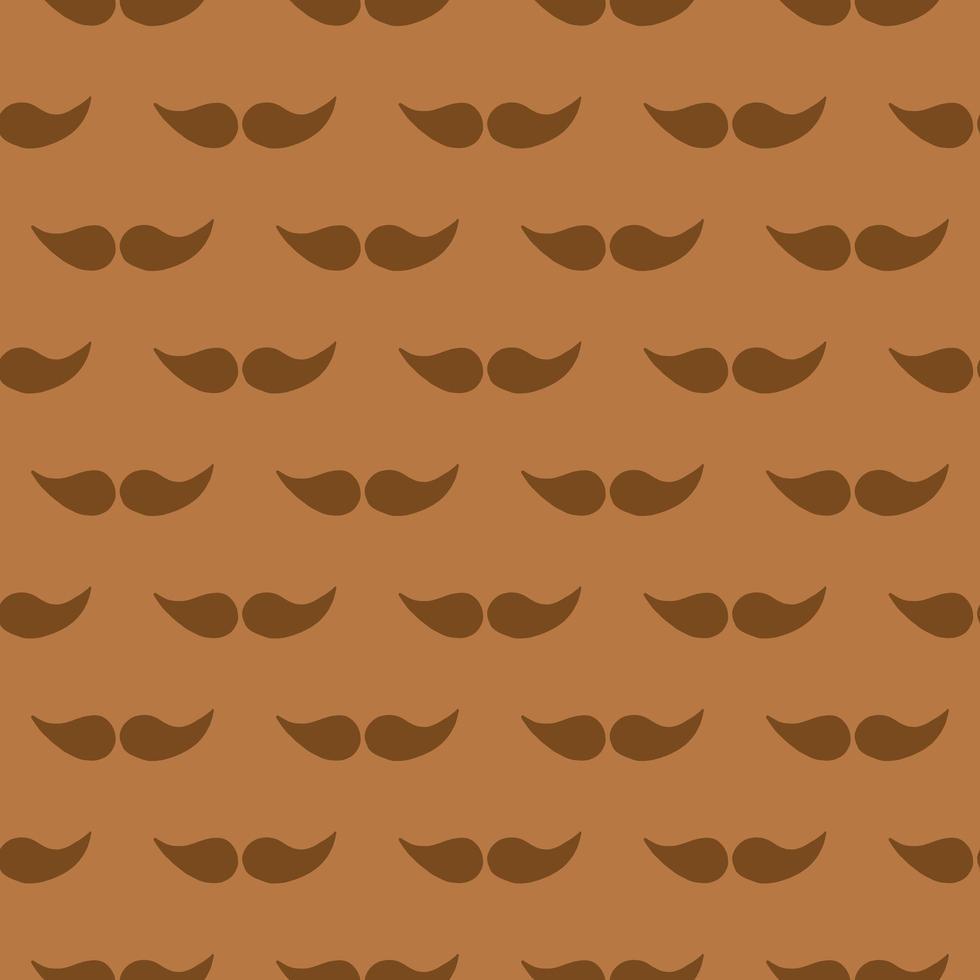 vector naadloze structuurpatroon als achtergrond. hand getrokken, bruin, oranje kleuren.