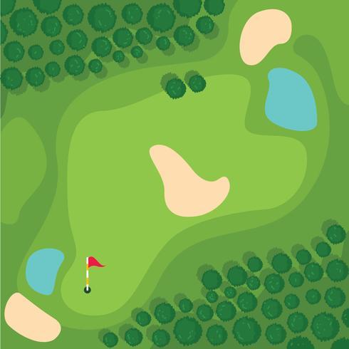 Bovenaanzicht Golfbaan vector