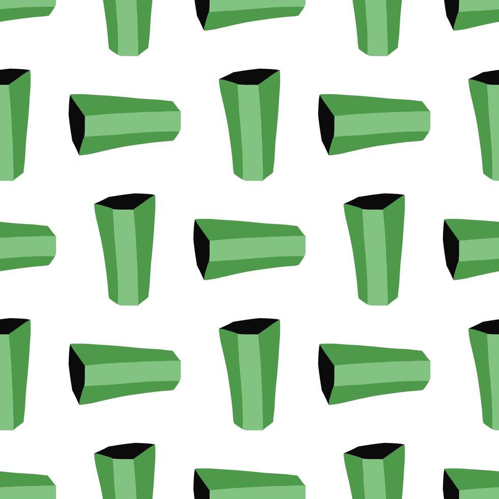 vector naadloze structuurpatroon als achtergrond. hand getrokken, groene, witte, zwarte kleuren.