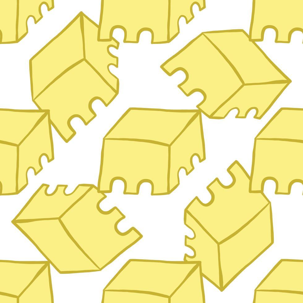 vector naadloze structuurpatroon als achtergrond. hand getrokken, gele, gouden, witte kleuren.