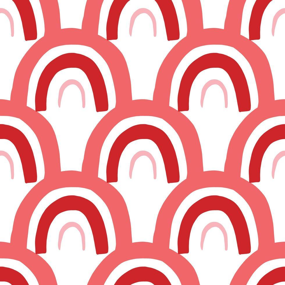 vector naadloze patroon, textuur achtergrond. hand getrokken, rode, roze, witte kleuren.