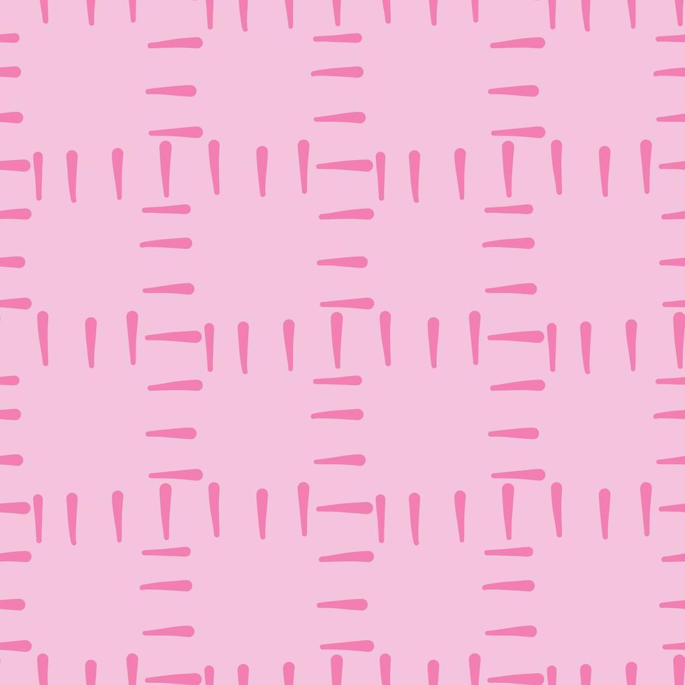 vector naadloze structuurpatroon als achtergrond. hand getrokken, roze kleuren.