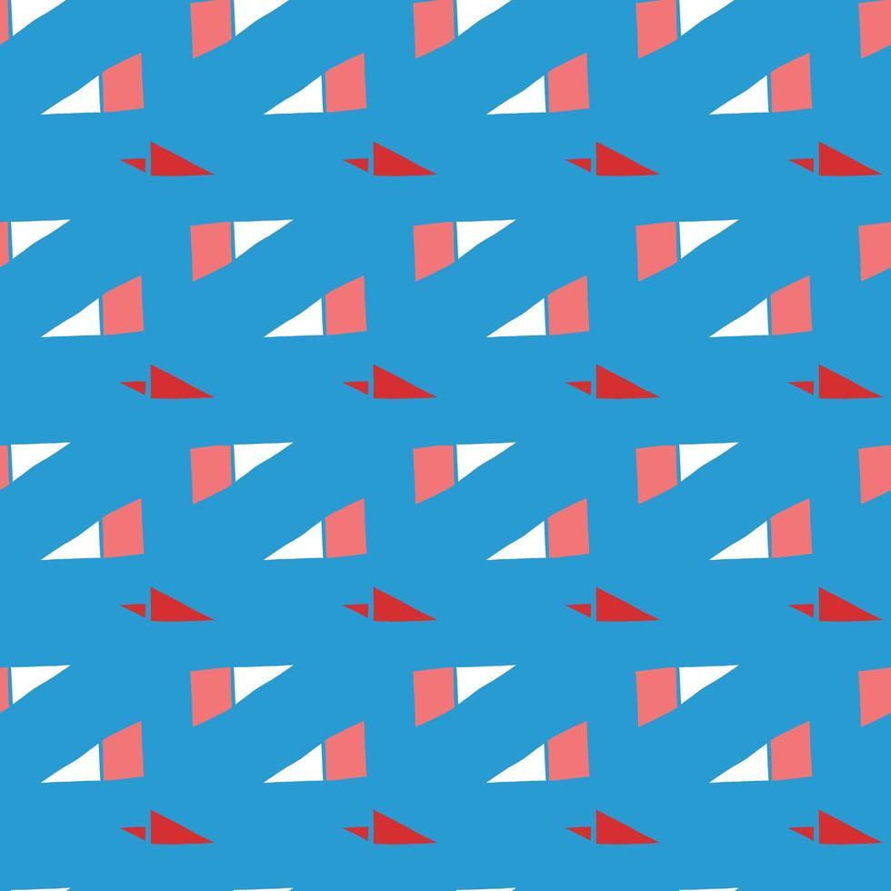 vector naadloze structuurpatroon als achtergrond. hand getrokken, blauwe, rode, witte kleuren.
