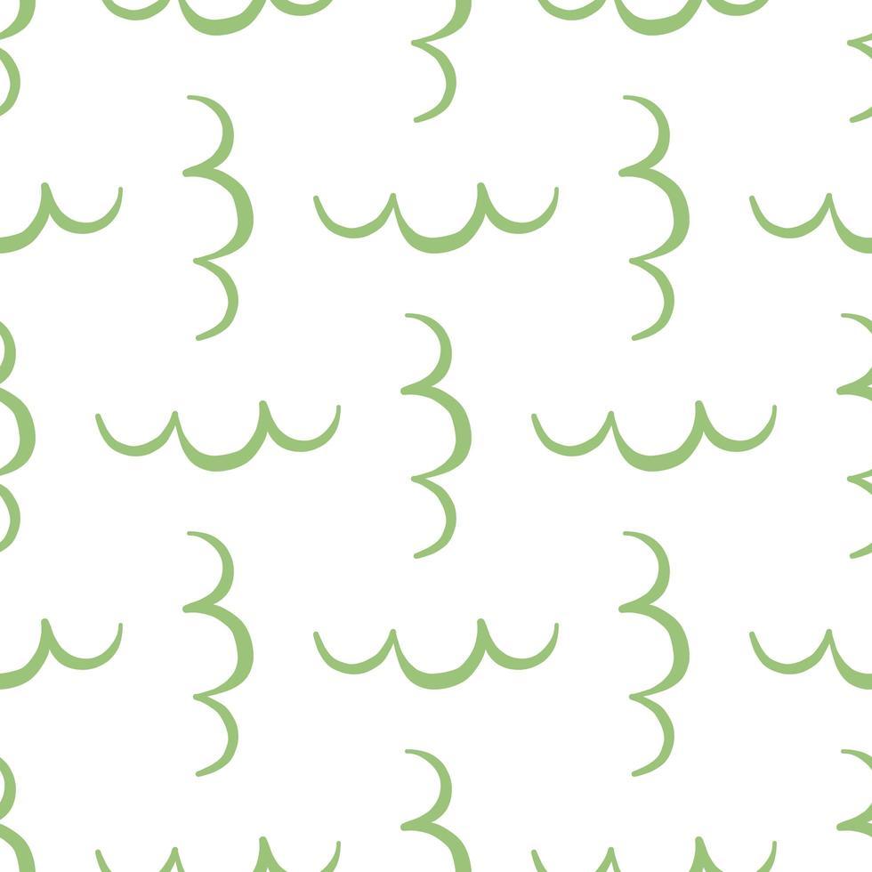 vector naadloze patroon, textuur achtergrond. hand getrokken, groene, witte kleuren.