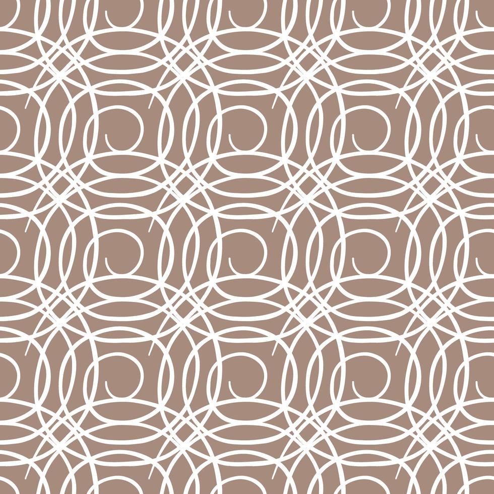 vector naadloze structuurpatroon als achtergrond. hand getrokken, bruine, witte kleuren.