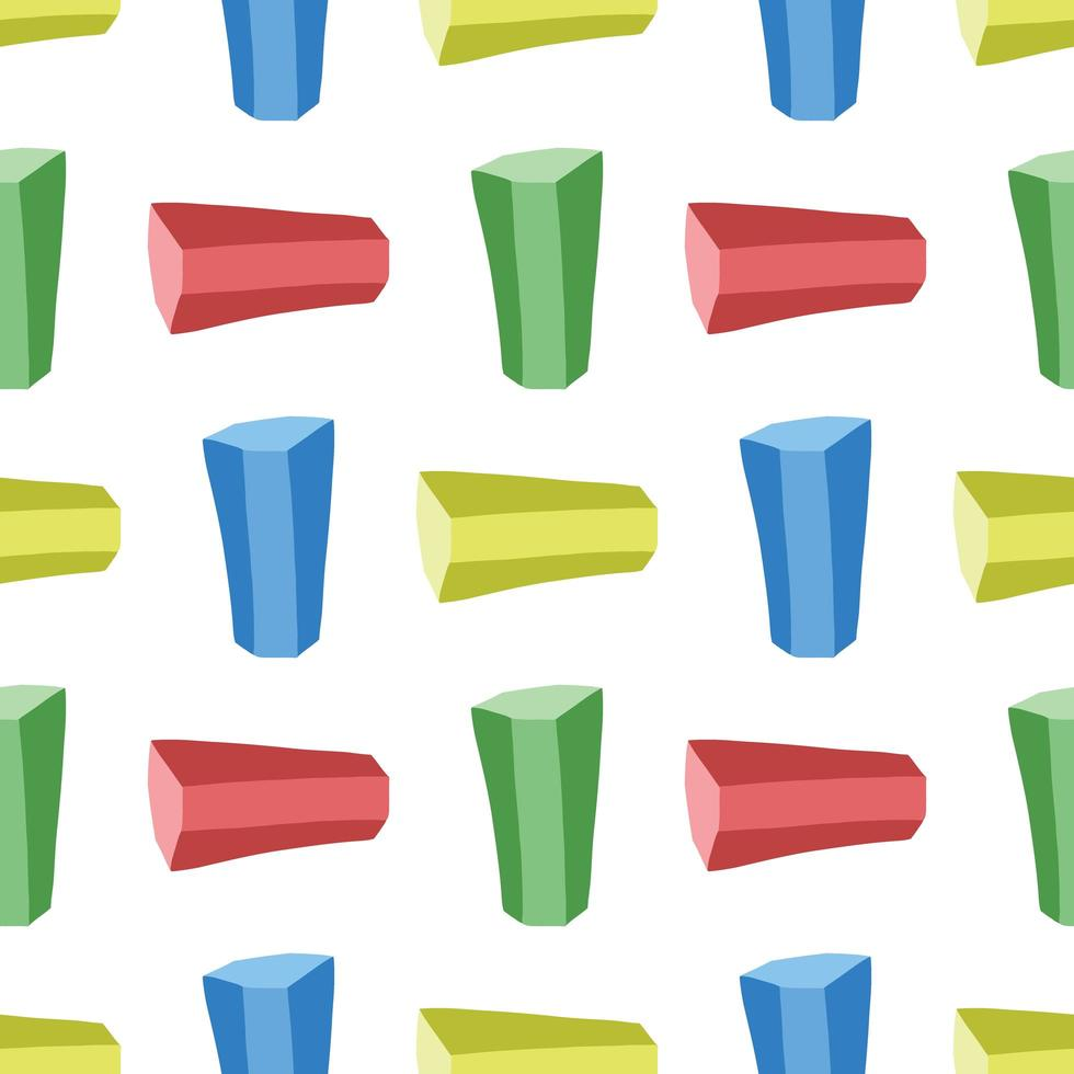 vector naadloze structuurpatroon als achtergrond. hand getrokken, blauwe, groene, gele, rode kleuren op wit.