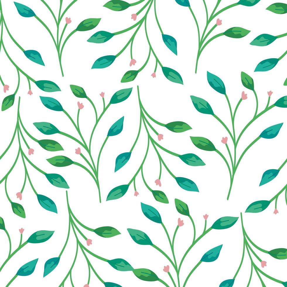 achtergrond van takken met bladeren decoratie vector