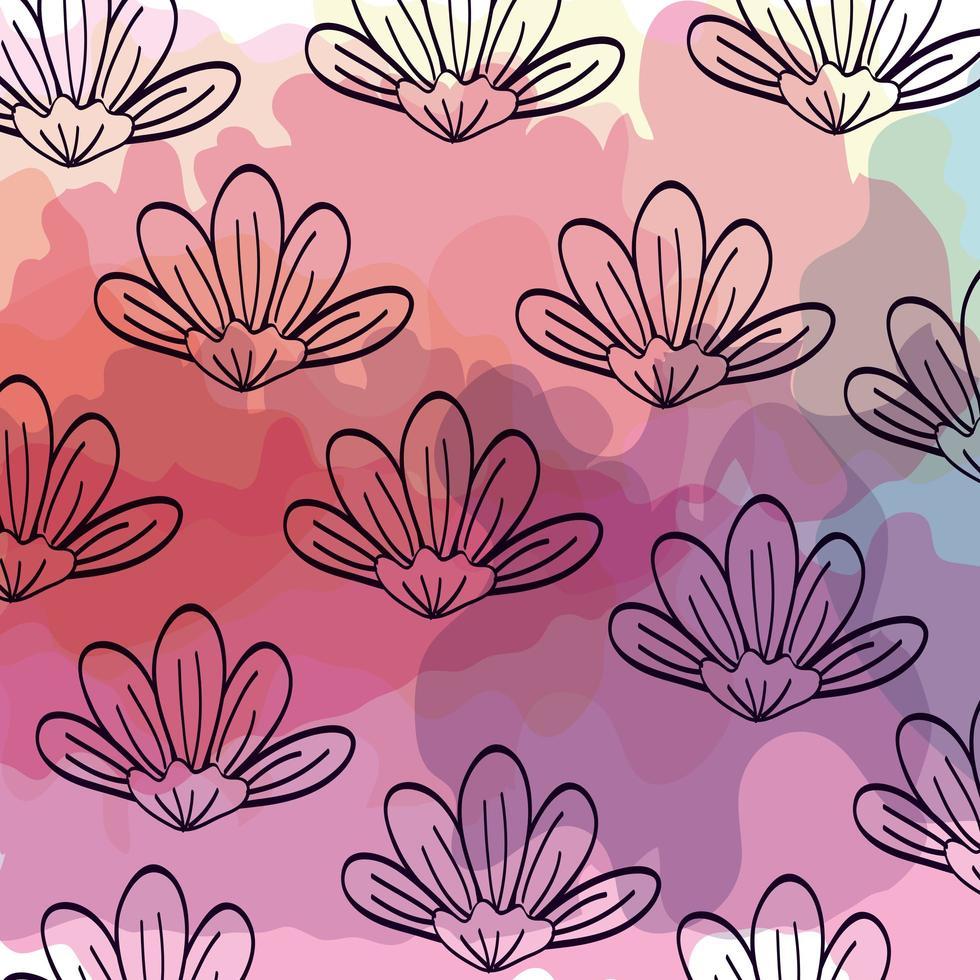 achtergrond van schattige bloemen naturals vector