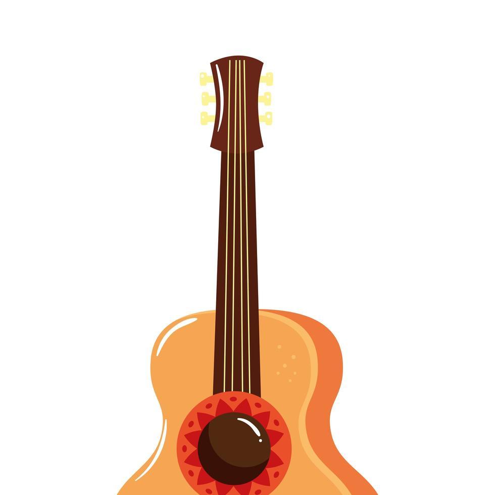 geïsoleerde gitaar instrument vector ontwerp