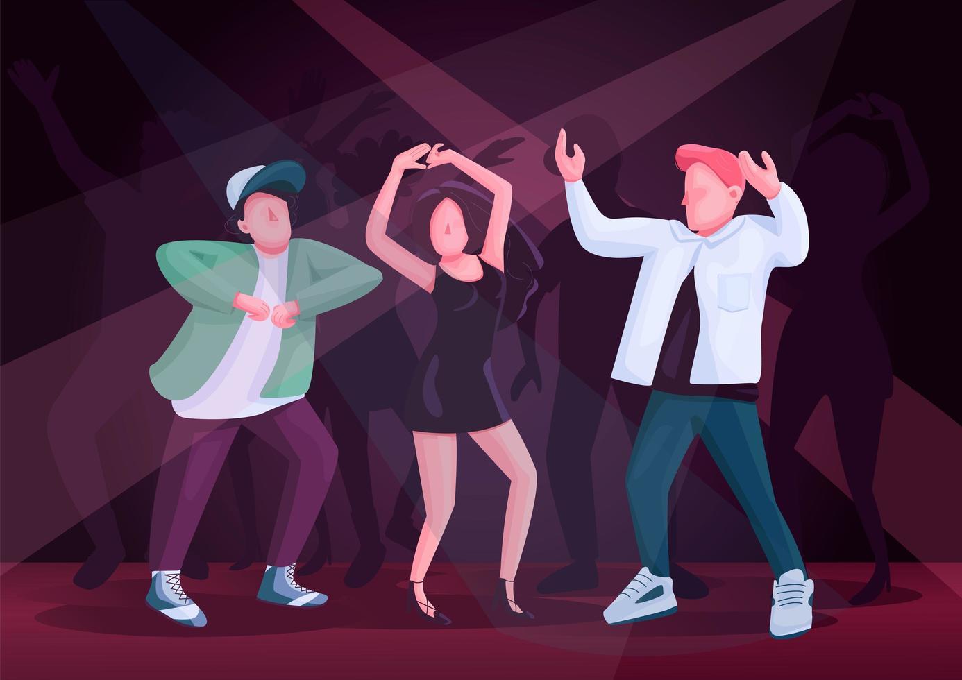 mannen en vrouw paar dansen samen egale kleur vectorillustratie vector