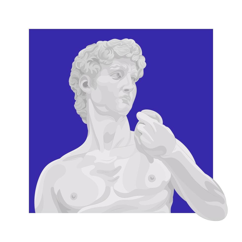 illustratie van het standbeeld van David vector
