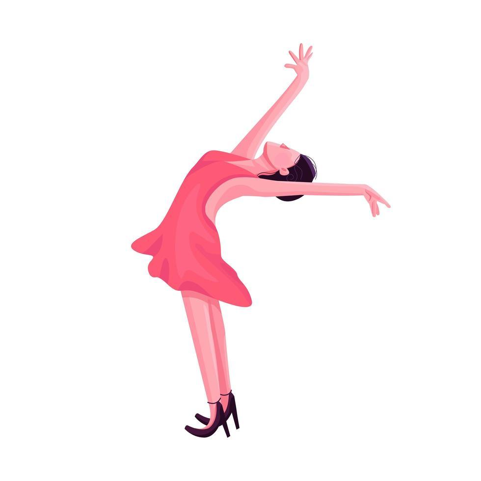 Ballroom danseres egale kleur vector anonieme karakter