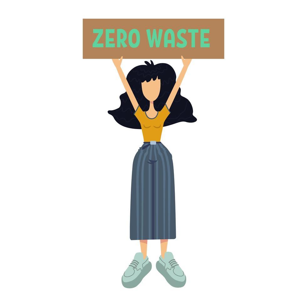 nul afval platte cartoon vectorillustratie vector