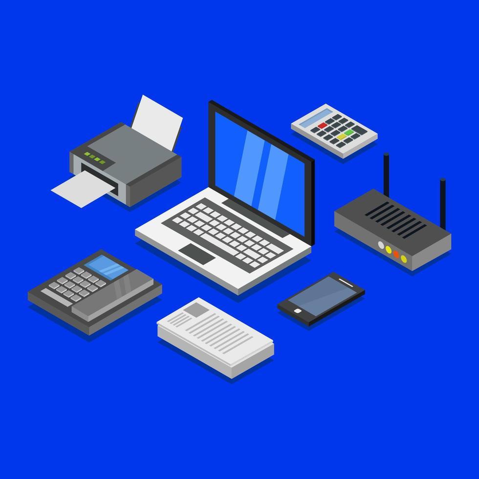isometrische elektronische gadgets vector