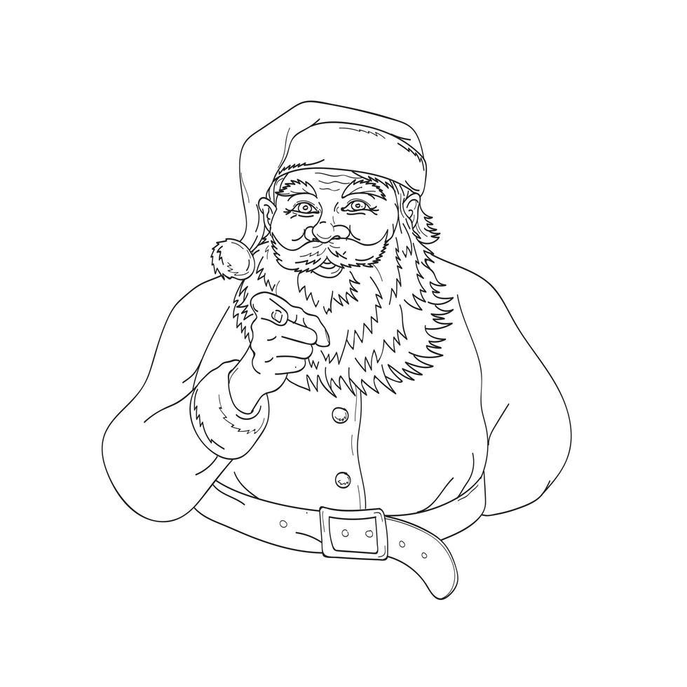 santa claus sinterklaas of kerstman vector