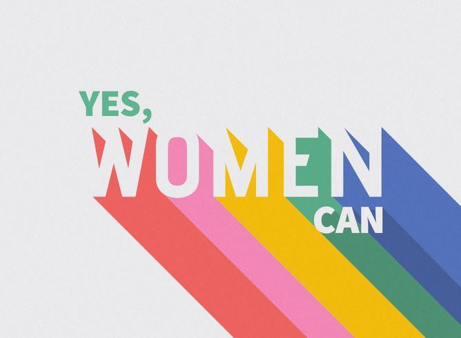 Internationale Vrouwendag Quote Retro Typografie vector