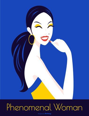 Internationale Vrouwendag pop-art vectoraffiche vector