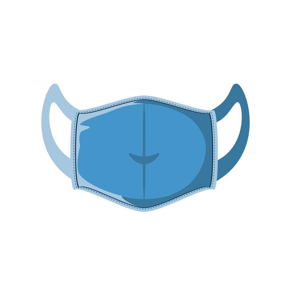 medisch masker in anti-vloeibare stof op witte achtergrond vector