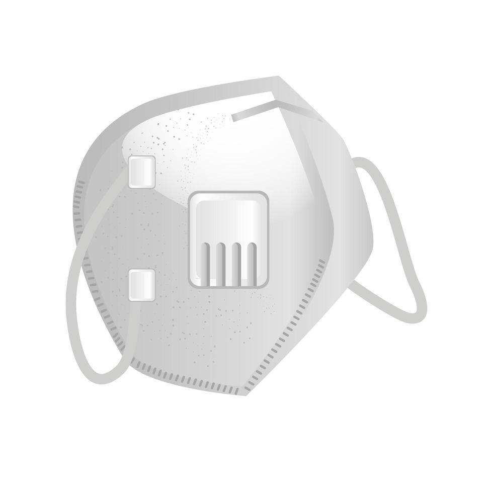 industrieel gezichtsmasker n95 op witte achtergrond vector