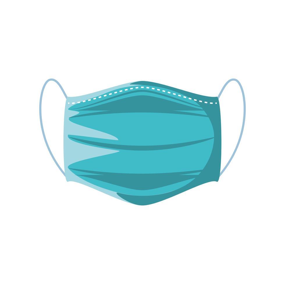 medisch gezichtsmasker op witte achtergrond vector