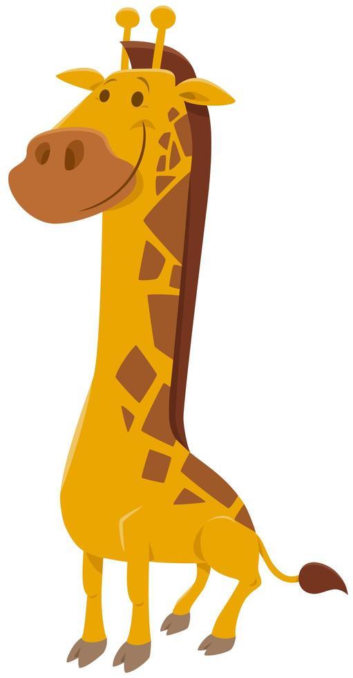grappige giraffe dierlijk karakter cartoon afbeelding vector