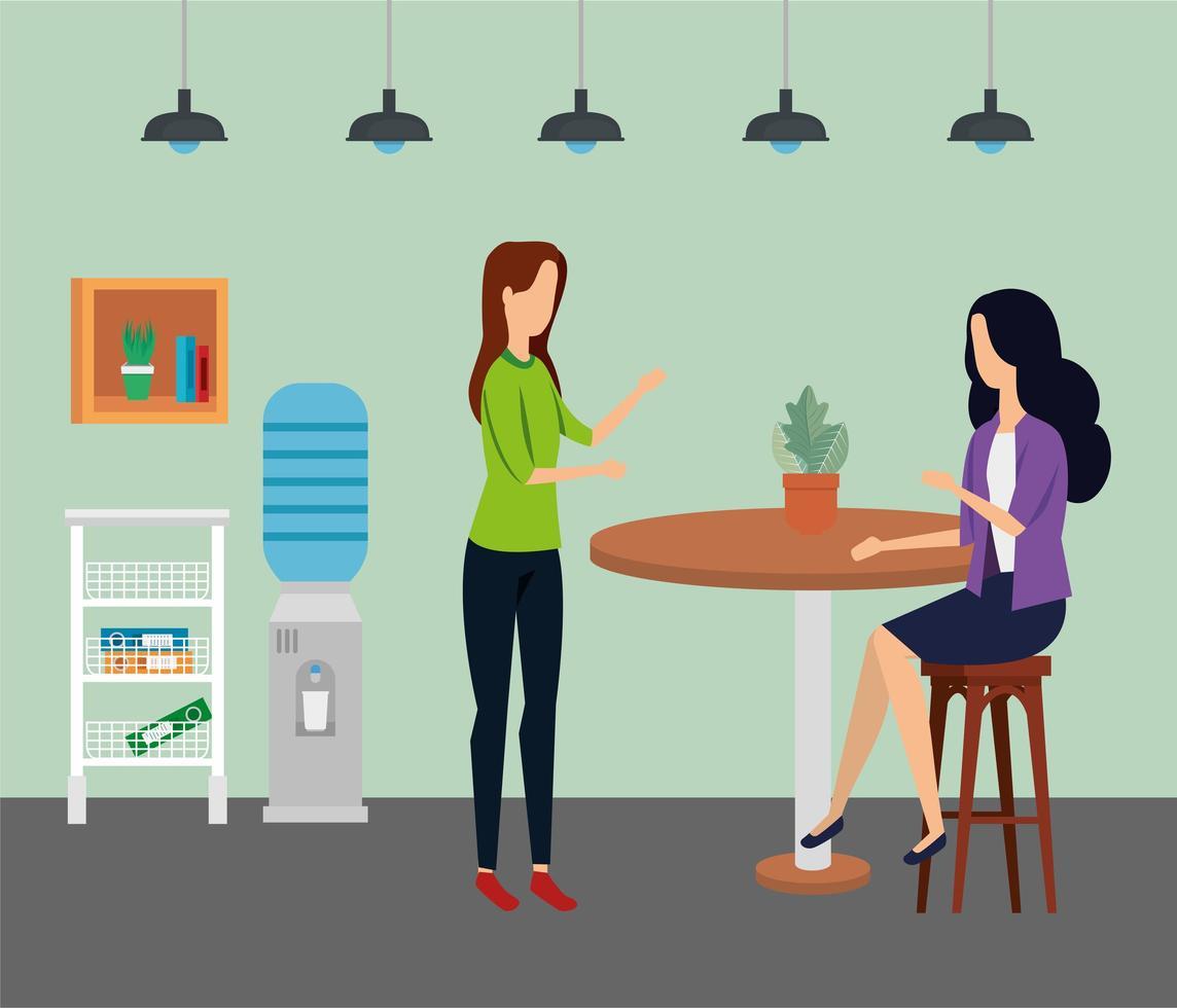 elegante vrouwelijke ondernemers op kantoor vector