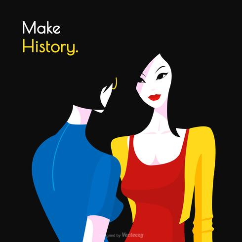 Vector internationale Vrouwendag popart poster