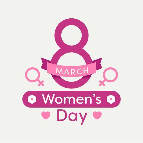Vrouwendag poster vector