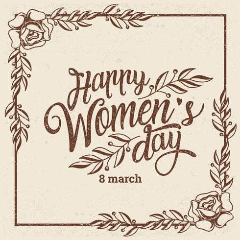 Internationale Vrouwendag Achtergrond vector
