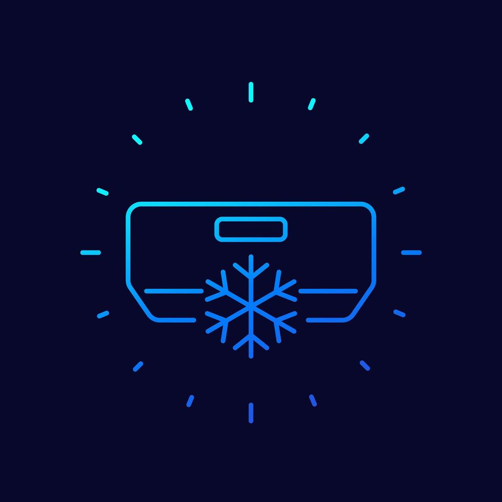 airconditioner, ac lijn vector pictogram