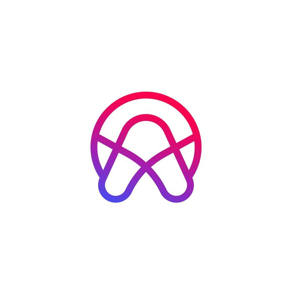 vector logo met een letter