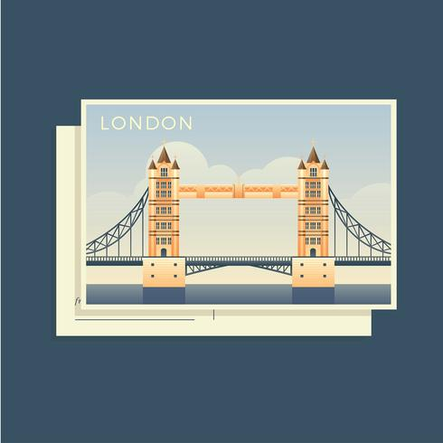 Postkaarten Van De Wereld Engeland Vector