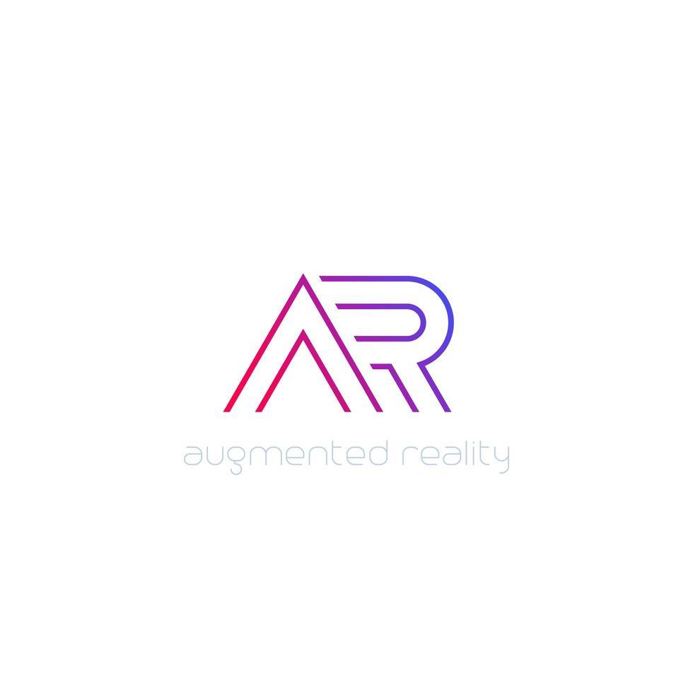 ar vector logo, lijn ontwerp