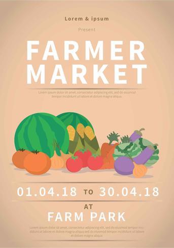 Boerenmarkt Flyer Illustratie vector