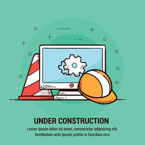 Website onder constructie vector