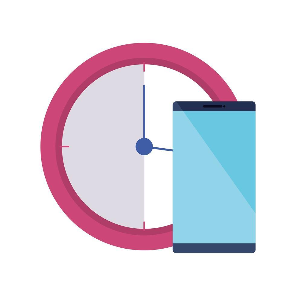 kloktijd met geïsoleerde afbeeldingsbestand pictogram vector
