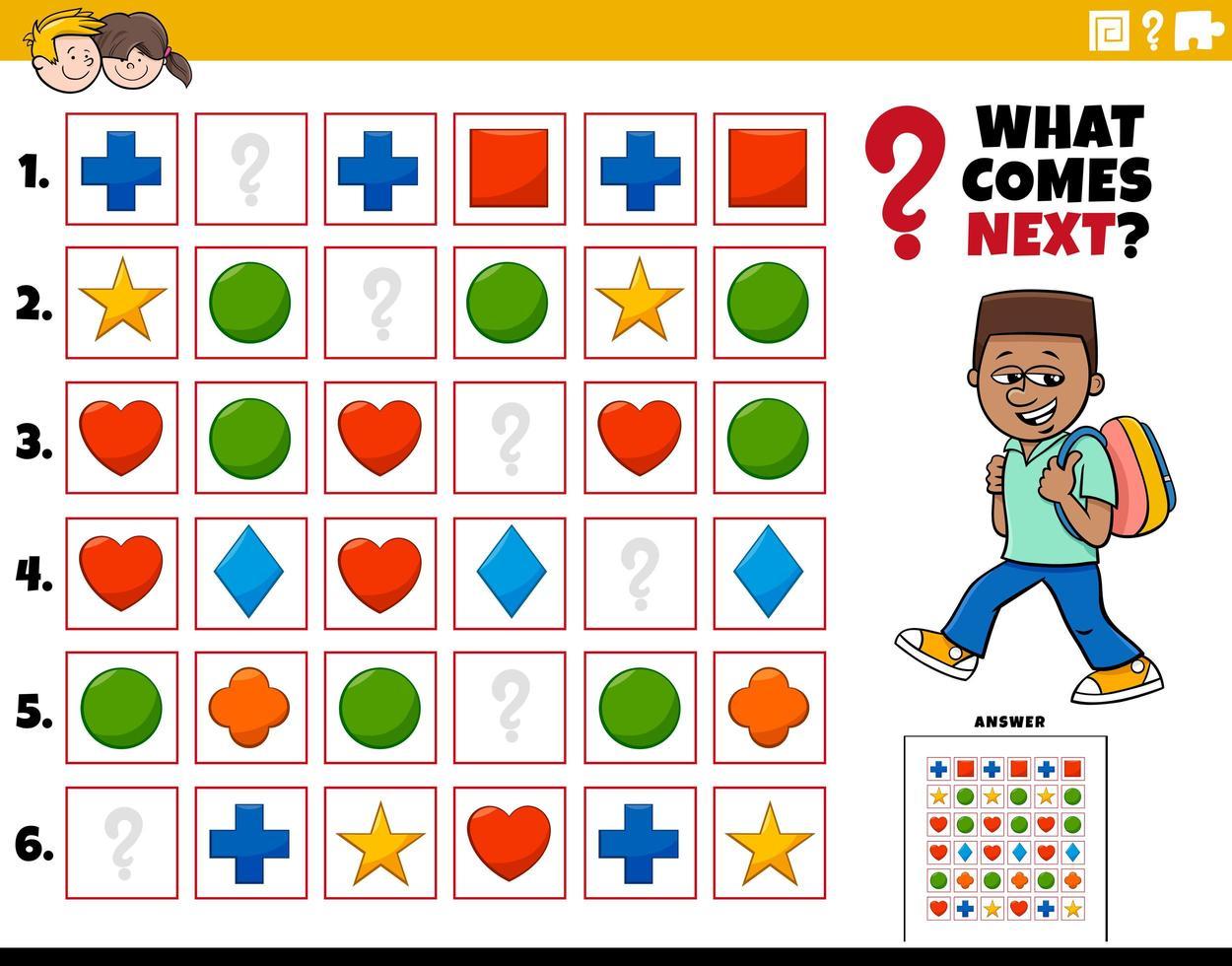 vul de patroon educatieve taak voor kinderen vector
