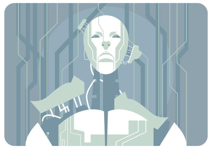 ai robot gebouw vector