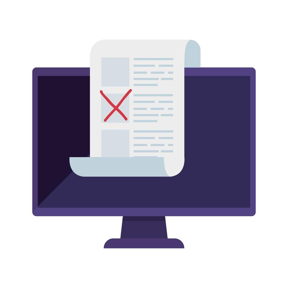 computer voor stem online geïsoleerd pictogram vector