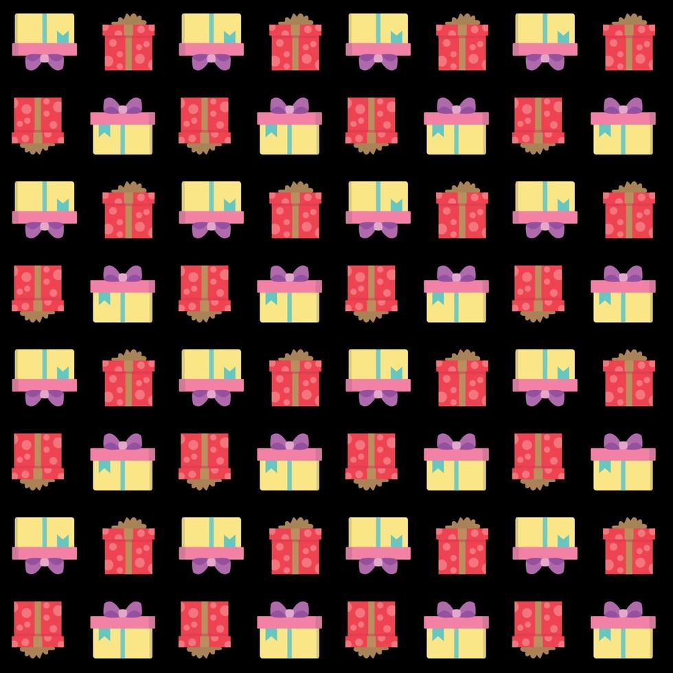 geschenkdozen naadloos patroon vector