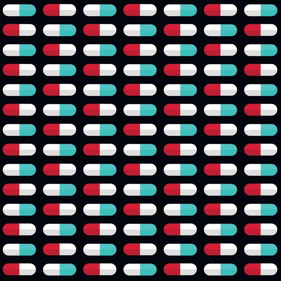 medische pillen patroon vector