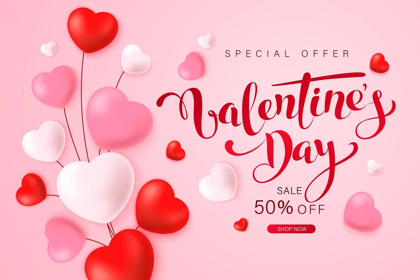 gelukkige Valentijnsdag wenskaart ontwerp vector