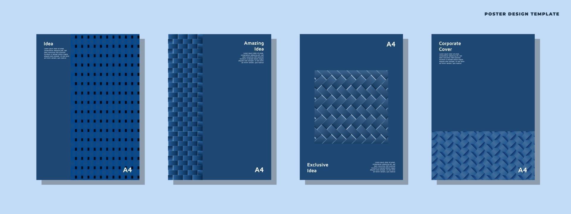 bedrijfsidentiteit brochure sjabloonverzameling vector