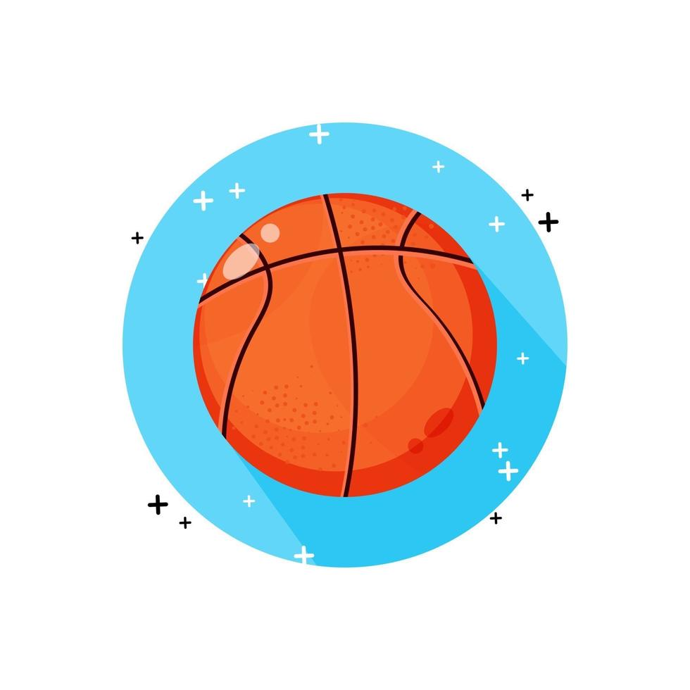 basketbal pictogram vector ontwerp
