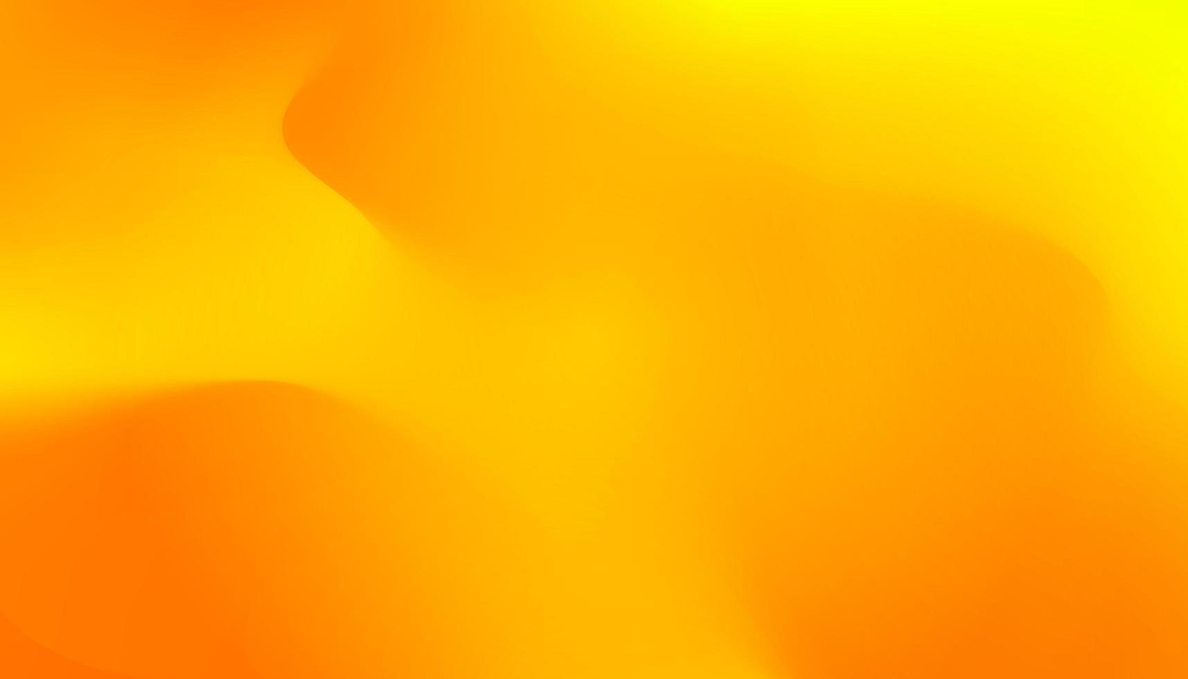 sappige oranje golvende gradiëntbanner. verse warme zonnige kleuren dynamische vloeibare abstracte achtergrond. goud mesh behang vector