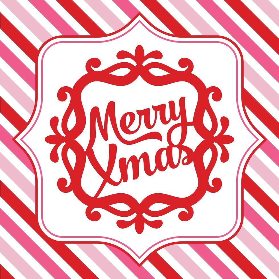 vrolijk kerstfeest sierlijke frame achtergrond vector