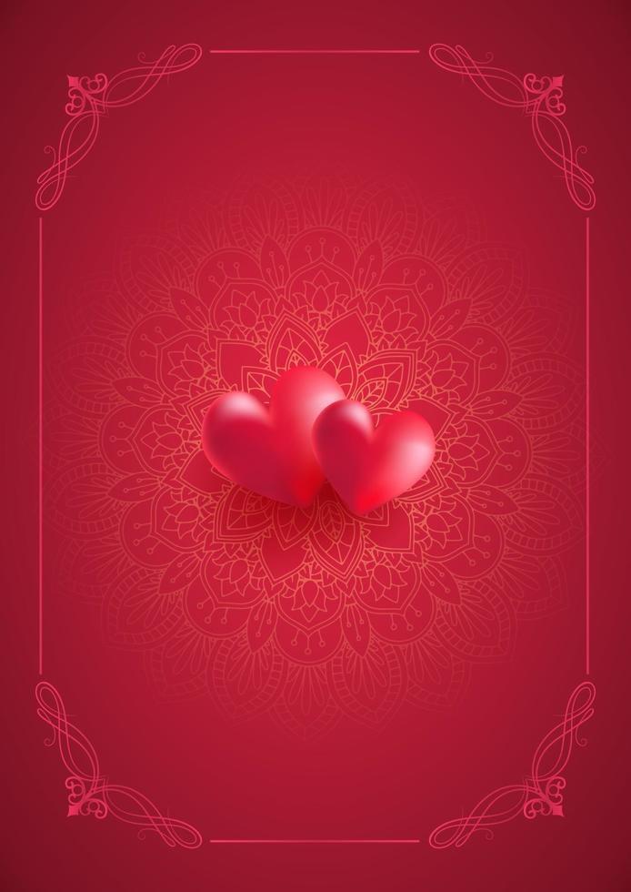 decoratieve Valentijnsdag kaart vector