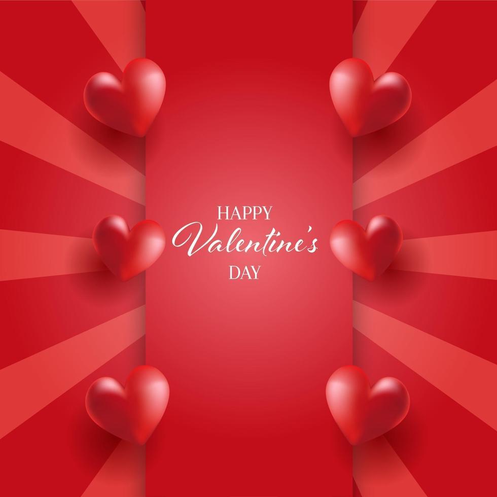 Valentijnsdag achtergrond met hartjes ontwerp vector